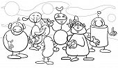 Cartoon Fantasy Characters Coloring Page