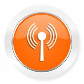 wifi orange computer icon