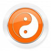 ying yang orange computer icon