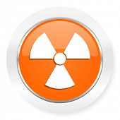radiation orange computer icon
