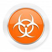 biohazard orange computer icon