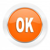 ok orange computer icon