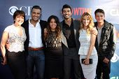 LOS ANGELES - JUL 17:  Ivonne Coll, Jamie Camil, Gina Rodriguez, Justin Baldoni, Yael Grobglas, Brett Dier at the CBS TCA Party at the Pacific Design Center on July 17, 2014 in West Hollywood, CA