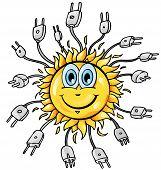 Sun Cartoon With Plung