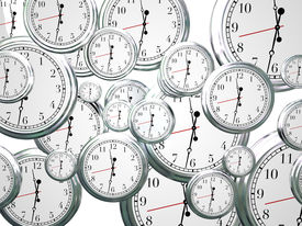 image of pass-time  - Many clocks ticking counting down seconds - JPG