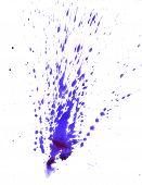 Violet Watercolor Blot