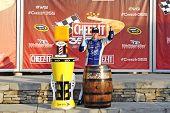 Watkins Glen, NY - Aug 10, 2014:  A.J. Allmendinger (47) wins the Cheez-It 355 at The Glen at Watkins Glen International in Watkins Glen, NY.