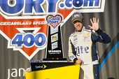 Joliet, IL - Sep 14, 2014:  Brad Keselowski (2) wins the MyAFibStory.com 400 at Chicagoland Speedway in Joliet, IL.