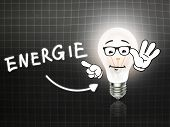 Energie Bulb Lamp Energy Light Blackboard