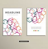 Book cover with abstract colored lines eps