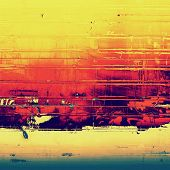 Background in grunge style. With different color patterns: green; purple (violet); red; orange; yellow
