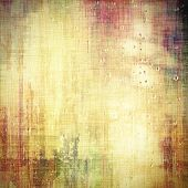 Old grunge background with delicate abstract texture and different color patterns: yellow; gray; brown; purple
