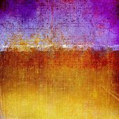 Old abstract grunge background, aged retro texture. With different color patterns: blue; orange; brown; yellow