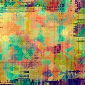 Art grunge vintage textured background. With different color patterns: yellow; purple (violet); green; orange; blue