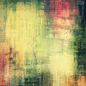 Grunge texture, distressed background. With different color patterns: yellow; green; pink; beige