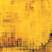Old texture with delicate abstract pattern as grunge background. With different color patterns: yellow; brown; violet; beige