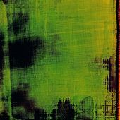 Old texture as abstract grunge background. With different color patterns: yellow; green; black