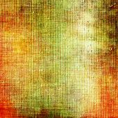 Dirty and weathered old textured background. With different color patterns: yellow; brown; green; orange; beige