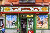Colorful Tapas Bar Tavern Madrid Spain