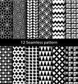 set geometric seamless patterns