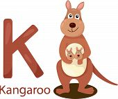 Illustrator of K with kangaroo