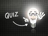 Quiz Bulb Lamp Energy Light Blackboard