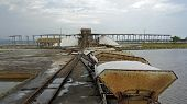 image of salt mine  - salt refinery in bani in the dominican republic - JPG