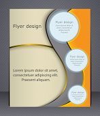Layout Business Brochure. Layout Flyer, Template, Or Magazine Co