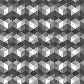Seamless gray geometric background