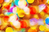 Beautiful Colorful Bokeh Festive Lights