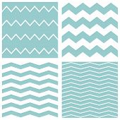 Tile vector chevron pattern set with sailor blue and white zig zag background