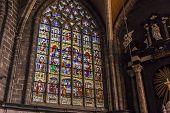 Interiors of Saint Bavon cathedral, Ghent, Belgium