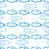 Seamless pattern with clouds on a background.
