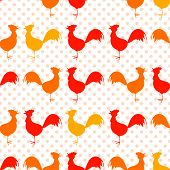 Pattern and seamless with chicken on a background.
