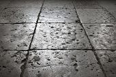 Dark Gray Stone Tiling On The Floor, Background