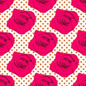 seamless roses pattern on a background