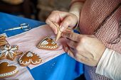 Decorating A Gingerbread Heart