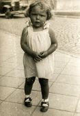 GERMANY, CIRCA 1938 -  Vintage photo of baby girl