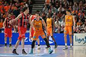 VALENCIA, SPAIN - DECEMBER 7:  Heurtel with ball during Endesa Spanish League game between Valencia Basket Club and Laboral Kutxa Baskonia at Fonteta Stadium on December 7, 2014 in Valencia, Spain