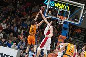 VALENCIA, SPAIN - DECEMBER 5: Vives (16) during Euroleague match between Valencia Basket Club and Crvena Zvezda Telekom Belgrade at Fonteta Stadium on Dicember 5, 2014 in Valencia, Spain