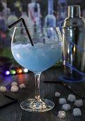 Cocktail, blue drink