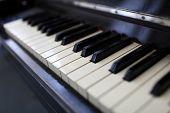 Vintage Classical Piano Keys