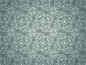 Elegant Seamless Pattern of Floral or Vintage Classic Vines