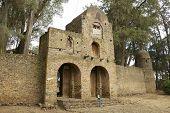Entrance to Debre Berhan Selassie church territory in Gondar, Ethiopia.