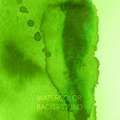 vector abstract green watercolor background for your design