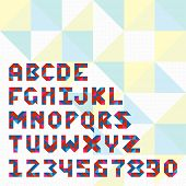 Triangle mosaic font for icons in web and apps.