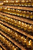 stock photo of wesak day  - Wesak Day Celebration candle in a row - JPG