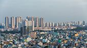 Ho Chi Minh cityscape sky view nowadays