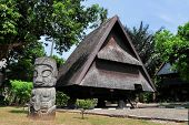 Traditional house of Celebes, Sulawesi, Indonesia
