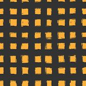 seamless pattern with orange hand-drawn squares. texture for web